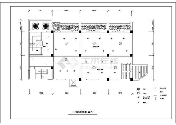 比较详细的三层酒店装修设计图纸(共60张)-图1