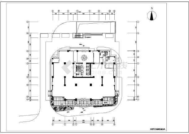 某市花园商业街详细装修CAD设计施工图-图二