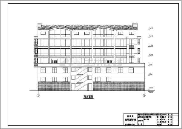 点击查看某沿街商住楼建筑全套cad施工图第2张大图