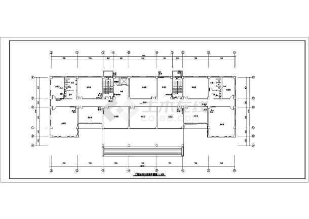 [新疆]多层办公大楼采暖给排水设计图-图二
