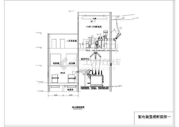 南网110kV标准设计方案cad系统设计施工图-图1