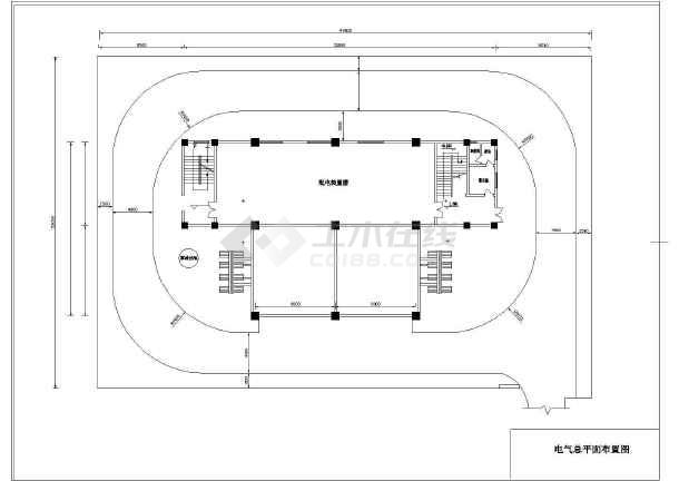 南网110kV标准设计方案cad系统设计施工图-图3