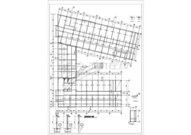 某医院病房楼现浇混凝土框架结构设计图-图2