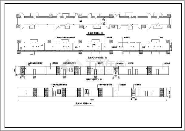 点击查看某宾馆客房装修设计cad施工图第1张大图