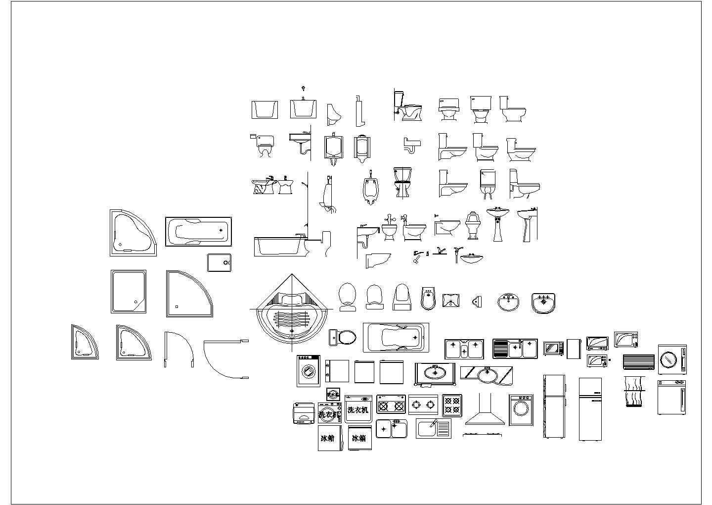 某室内家装装修CAD素材图库大全图片1
