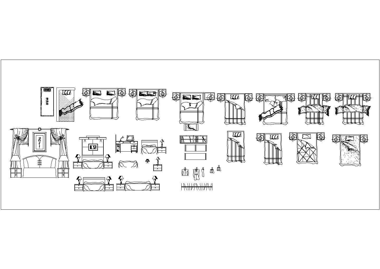 某室内家装装修CAD素材图库大全图片2