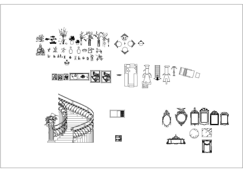 某室内家装装修CAD素材图库大全图片3