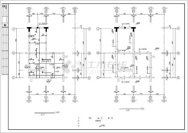 [天津]某8层异形柱框剪结构住宅楼结构施工图-图一