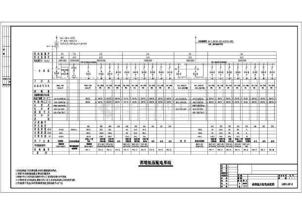 某建筑工程全套电气系统图纸-图2
