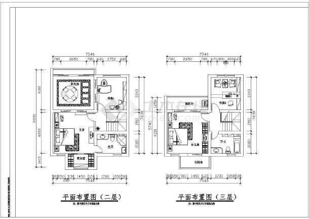某地大型阳光别墅建筑方案设计图-图3