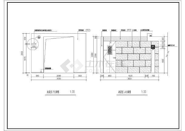 点击查看一套中式样板房cad室内装修设计施工图第1张大图