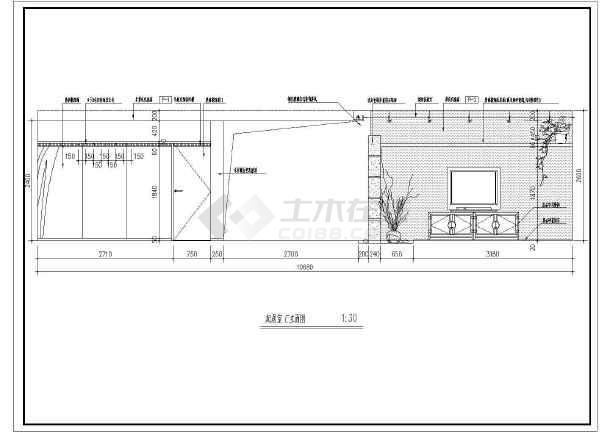 一套中式样板房cad室内装修设计施工图-图2