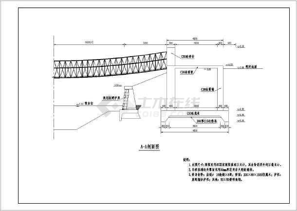 河道整治工程给排水cad图纸(标注详细)-图1