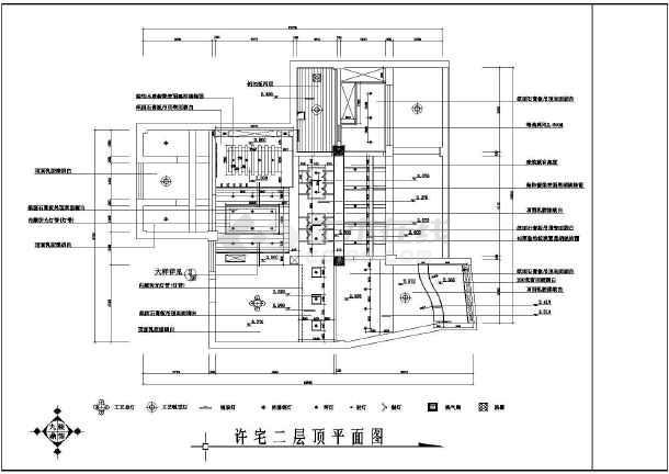 某小区住宅家装施工设计CAD图-图2