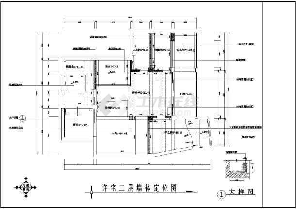 某小区住宅家装施工设计CAD图-图3