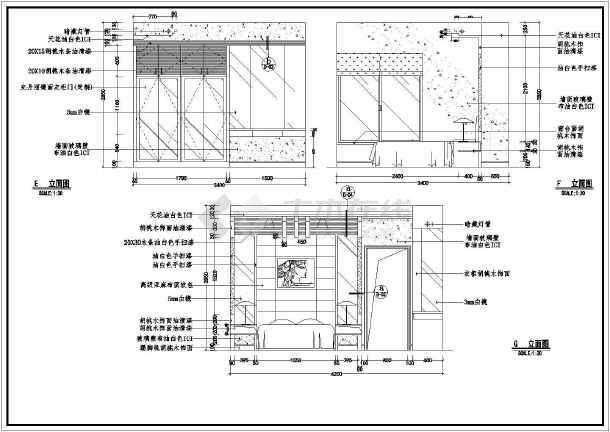 某样板房装修施工设计CAD图-图1