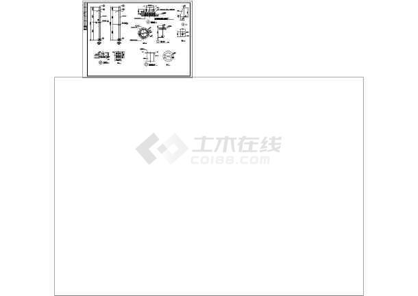 体育看台网架膜结构cad图纸(标注详细)-图1