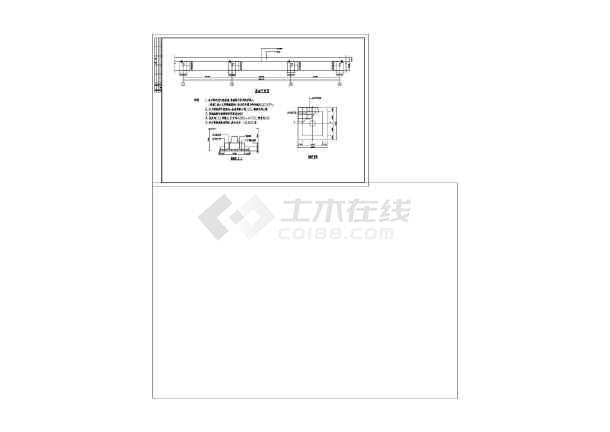 体育看台网架膜结构cad图纸(标注详细)-图3