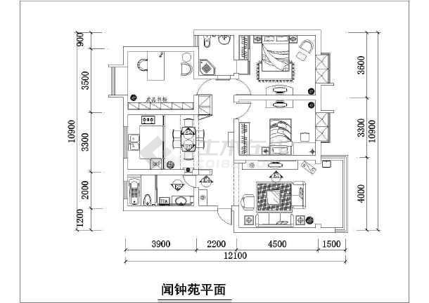 点击查看某住宅家装施工设计CAD图纸第1张大图