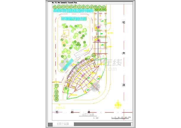 某市大酒店建筑设计CAD方案图-图2