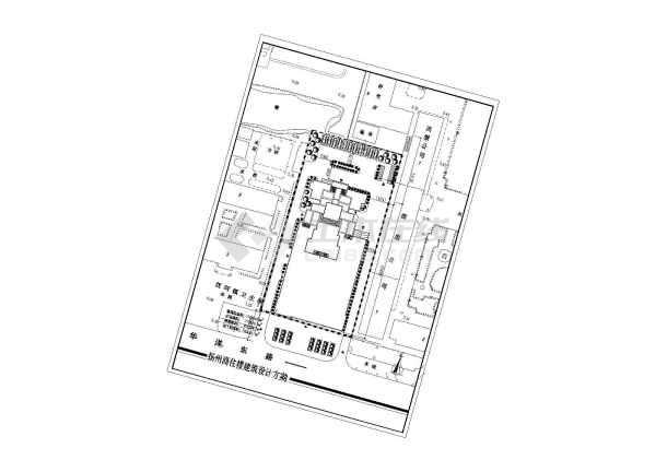 某商住楼建筑设计CAD方案(带效果图)-图1