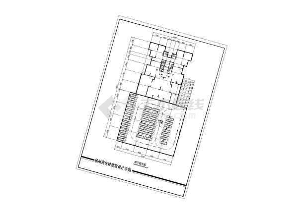 某商住楼建筑设计CAD方案(带效果图)-图3