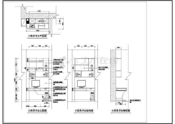某小区室内装修设计CAD方案图-图一