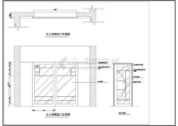 某小区室内装修设计CAD方案图-图1