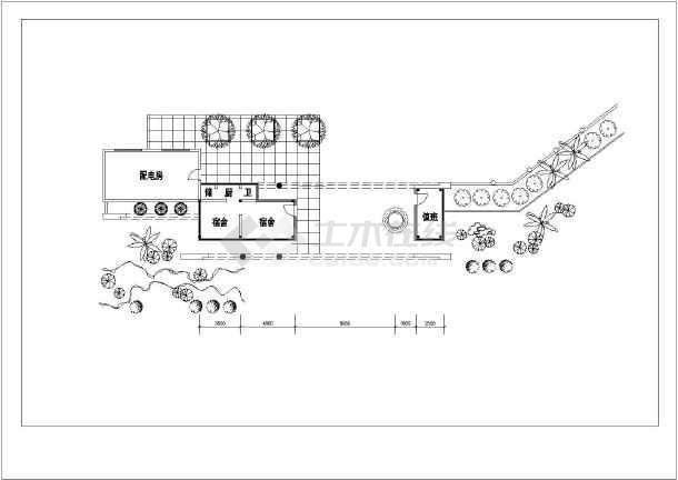 某招待所建筑设计方案图-图2