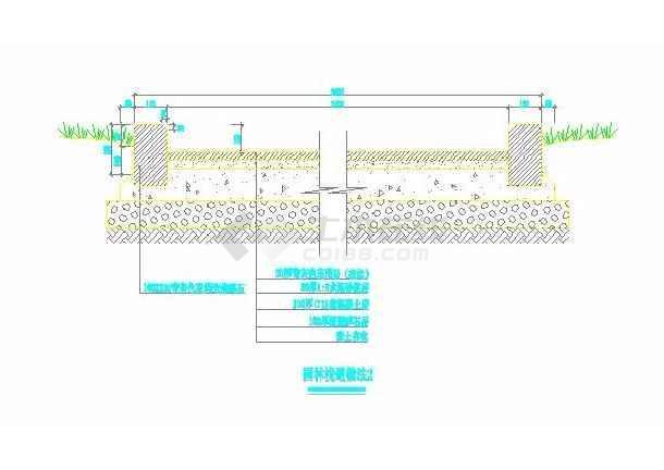 园林景观几种常见铺装大样做法(标注详细)-图1
