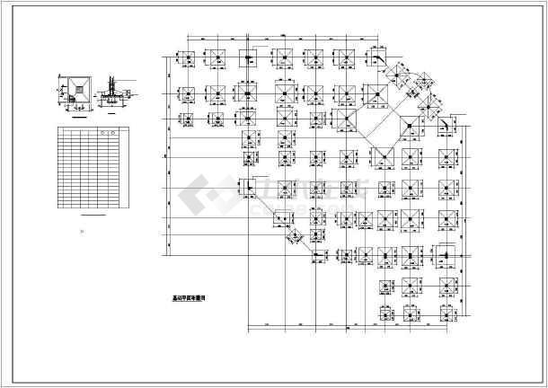 某框剪商场结构设计图-图一