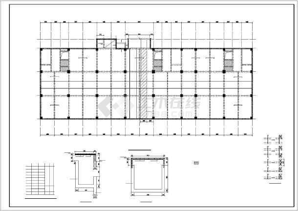 某框架综合楼结构设计图-图一