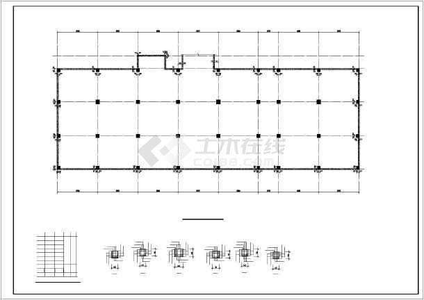 某框架综合楼结构设计图-图二