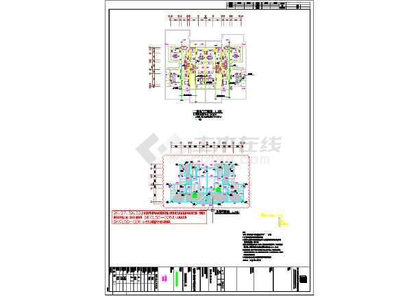 点击查看乡村联体别墅电气和给排水CAD施工图第2张大图