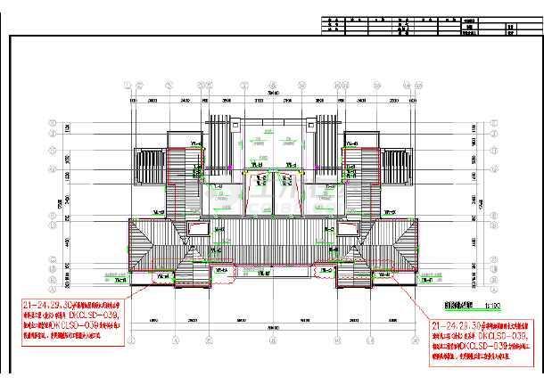 乡村联体别墅电气和给排水CAD施工图-图2