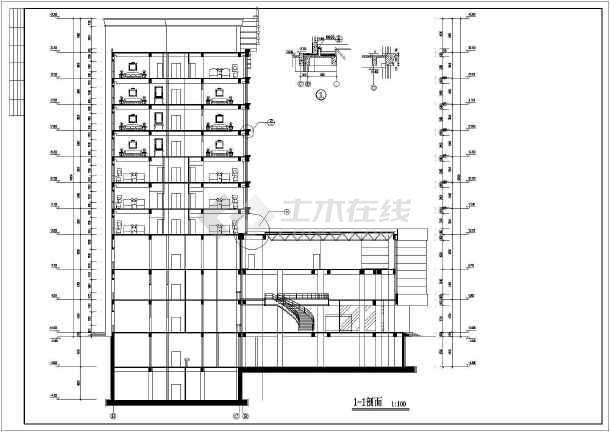 高层宾馆采暖、给排水设计、采暖方式地热加散热器相配合设计图纸-图一