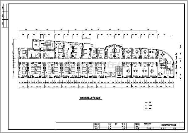 某商务宾馆装修设计cad方案图-图1