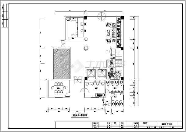 某商务宾馆装修设计cad方案图-图2