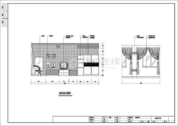 某商务宾馆装修设计cad方案图-图3