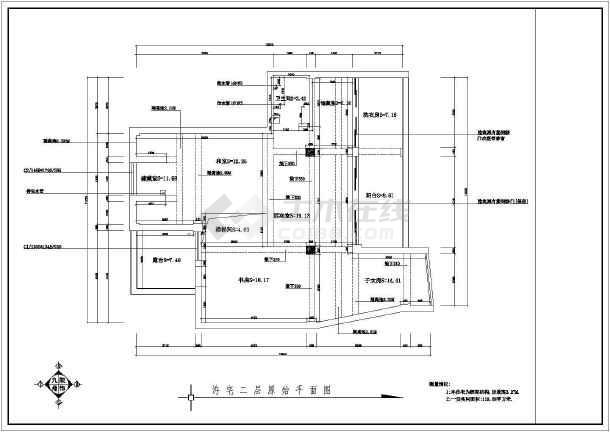 点击查看某商品房室内装修设计cad全套施工图第1张大图