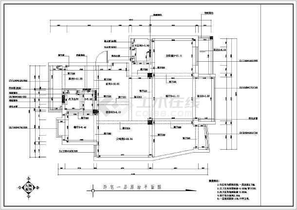 点击查看某商品房室内装修设计cad全套施工图第2张大图