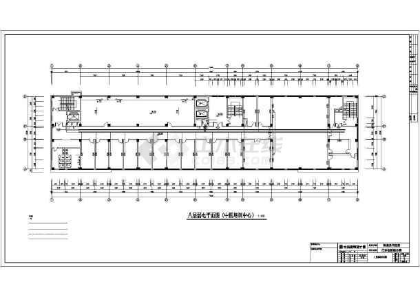 某地保康中医院全专业设计cad施工图纸-图二