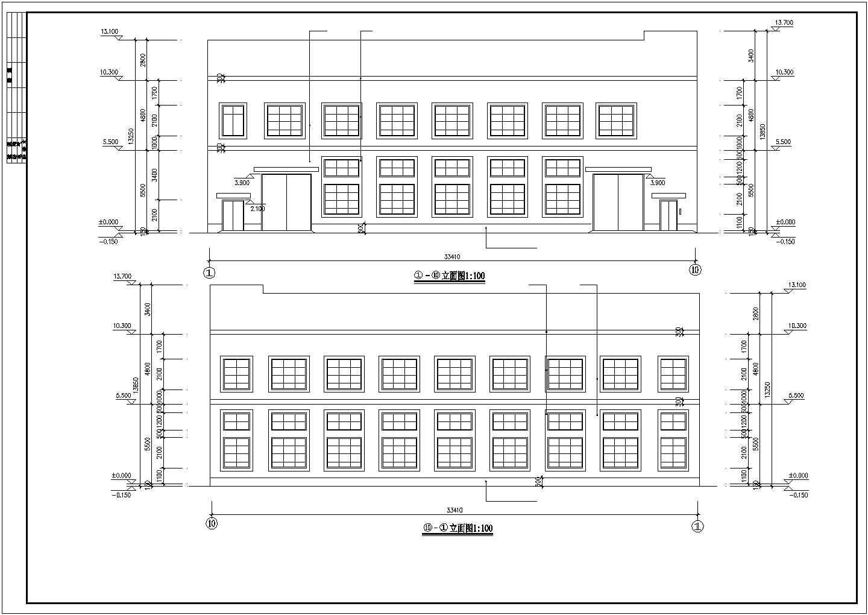 某二层框架(木屋架)厂房全套建筑结构设计图图片1
