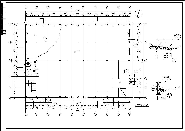 某二层框架(木屋架)厂房全套建筑结构设计图图片2