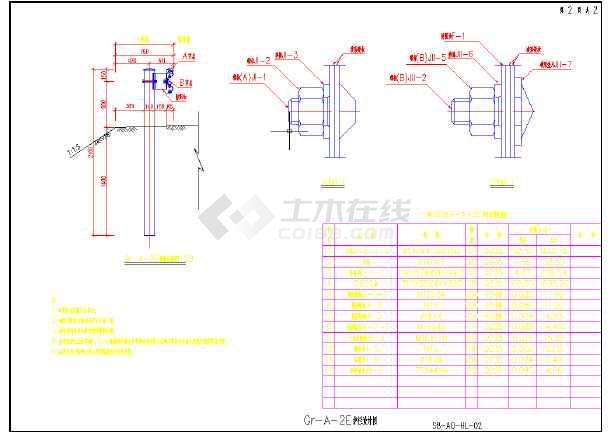 2017新规范交通工程护栏设计通用图-图3