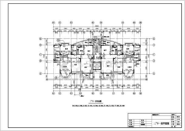 某十二层商住楼建筑施工图-图1