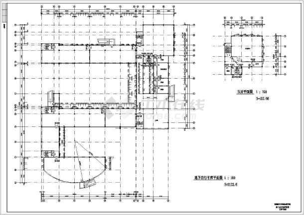某地中学综合教学楼建筑施工图-图1