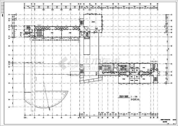 某地中学综合教学楼建筑施工图-图2