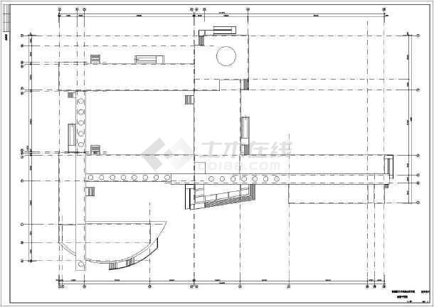 某地中学综合教学楼建筑施工图-图3