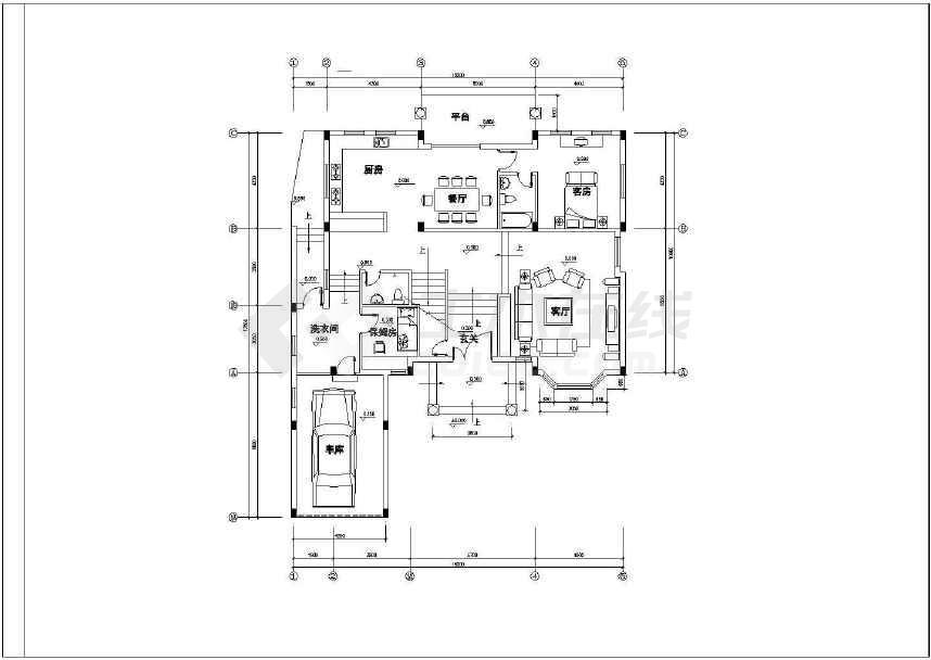 点击查看某地简单的别墅建筑设计施工图第1张大图